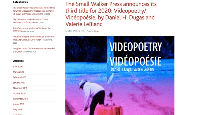 Livre videopoesie
